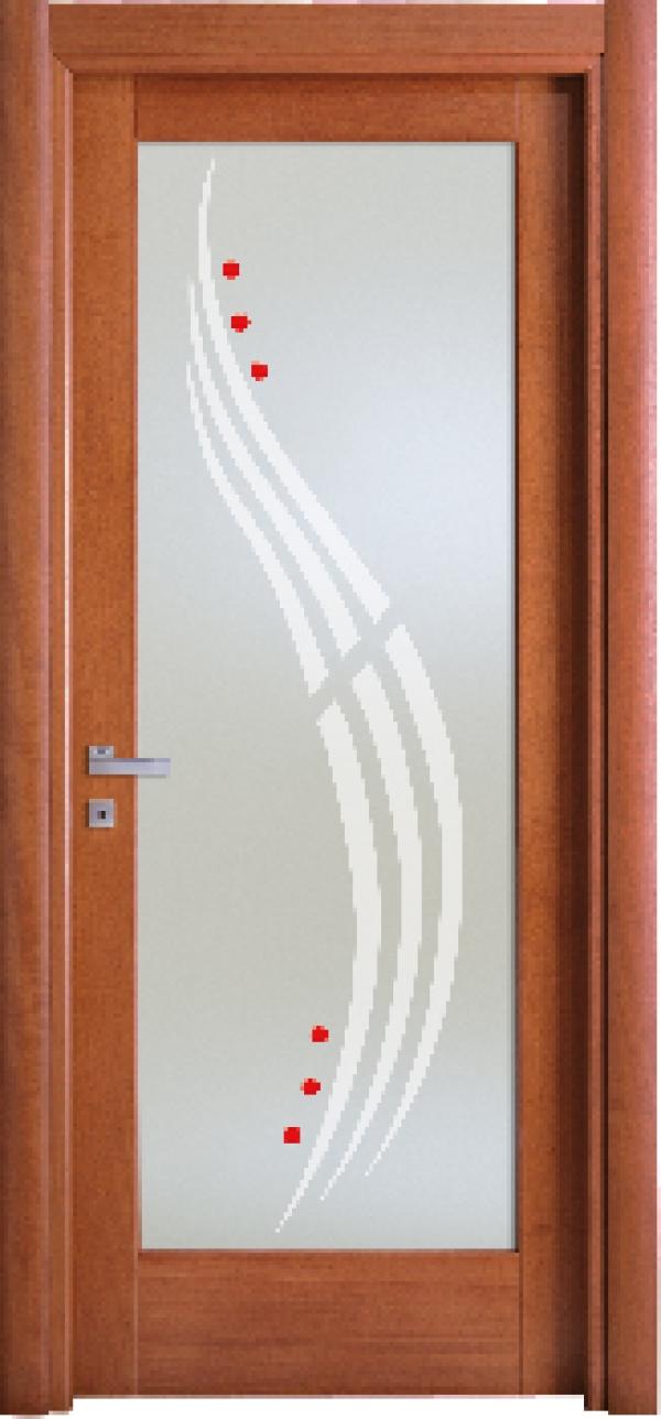 Porte in legno con vetro - Porte a roma ...